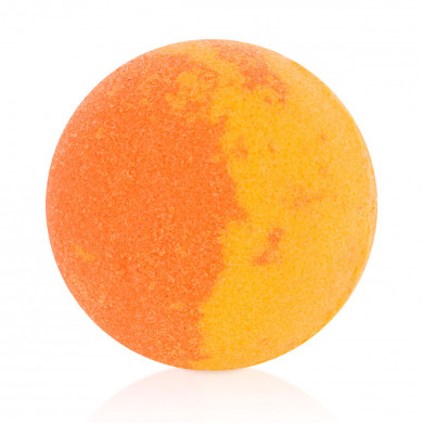 Orange bath bubble-ball
