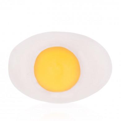 Egg-shaped goat milk soap