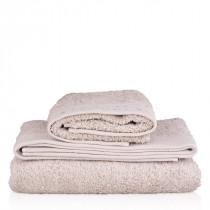 Organic cotton towel, grey 50 x 70cm